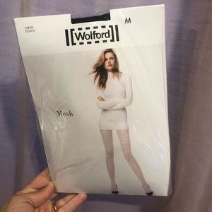 Wolford Mesh Tights in Black color